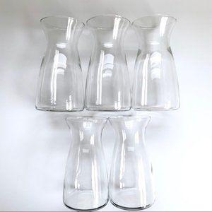 3/$25 NWT Hobby Lobby 5 Clear Glass Floral Vases